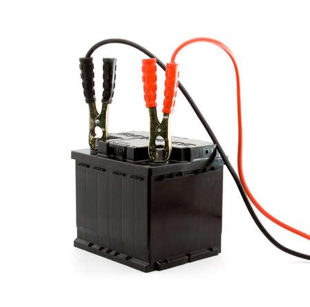 car battery jump start set studio isolated Stock Photo