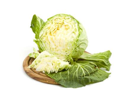 cabbage salad studio isolated over white Stock Photo