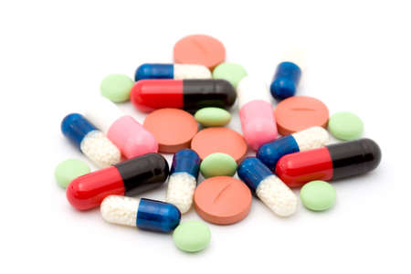 pills studio isolated over white Stock Photo