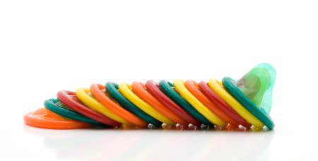 condones: estudio aislado de condones - concepto de sexo seguro