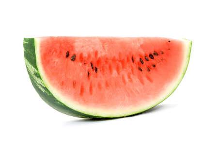 watermelon studio isolated over white Stock Photo - 4909451