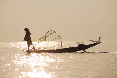 inle: Fisherman of Inle Lake ,Shan State Myanmar