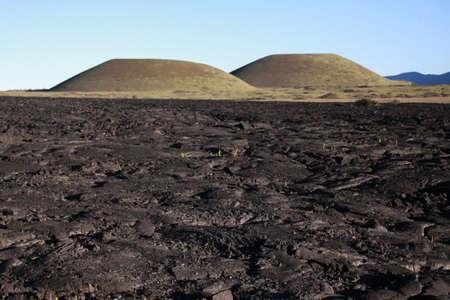 Volcanic Rock and Twin Volcano road to Mauna Kea Reklamní fotografie