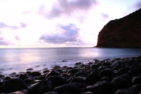Sunrise at Kawili Beach ,Halawa Bay Molokai Island