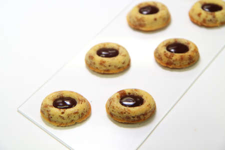 french pastry: Franc�s teacake pasteler�a, tigre TeacakeTIGRES chocolate au chocolat