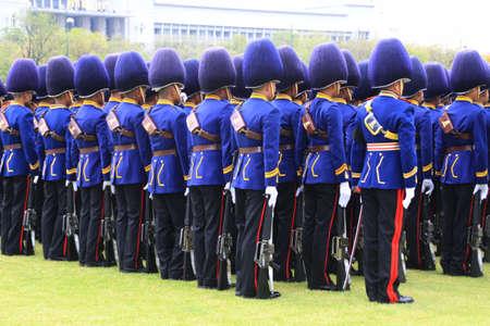 musket: Thai army marching at Sanam Luang ,Bangkok Editorial