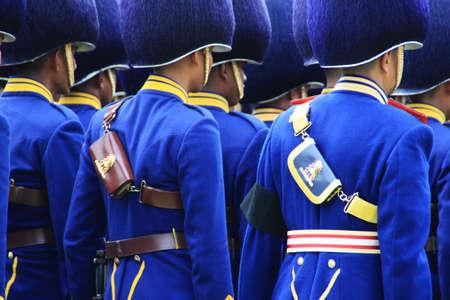 marching: Thai army marching at Sanam Luang ,Bangkok Editorial