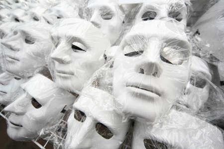 guy fawkes mask: A Guy Fawkes mask for sale on sidewalk at Bangkok , Thailand