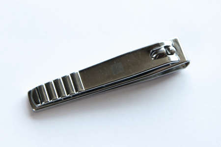 clipper: Stainless Steel Nail Clipper; Nail Scissor on White Background