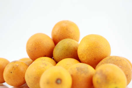 cumquat: Kumquat citrus isolated on a white background Stock Photo