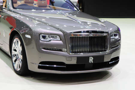 provenance: BANGKOK, THAILAND - MARCH 28,2016(Exhibition Public) : NEW 2016 ROLLS-ROYCE PHANTOM DROPHEAD  Coupe -Provenance Grey Color at THE 37th BANGKOK INTERNATIONAL MOTOR SHOW , 23 March 2016 - 03 April 2016