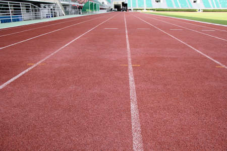 teaching material: Close up of Running track on the sports field