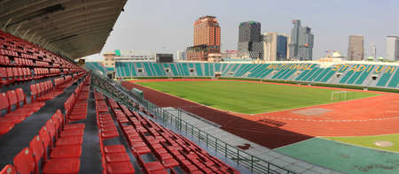 sports complex: Bangkok, Thailand - April 2, 2016 : The National Stadium of Thailand or Suphachalasai Stadium, Bangkok It is a public sports complex located in Pathum Wan District, Bangkok. Editorial