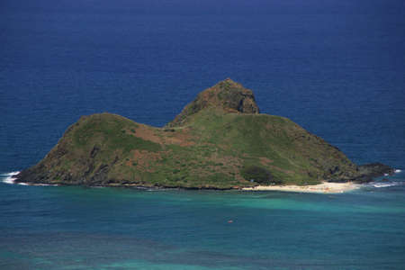 islets: Na Mokulua as seen from the Lanikai Pillboxes, Na Mokulua (meaning, in Hawaiian, the two islands) are two islets off the windward coast of Oahu in the Hawaiian Islands.