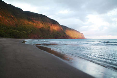 Awahua Beach, Molokai, is a beach near the former leper colony on Kalaupapa peninsula Molokai Hawaii USA Reklamní fotografie