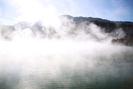 thermal spring: Champagne Pool in Waiotapu Hot Thermal Spring Reserve, Rotorua, New Zealand Stock Photo