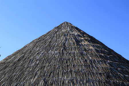 Traditional African Style village Roof hut background texture