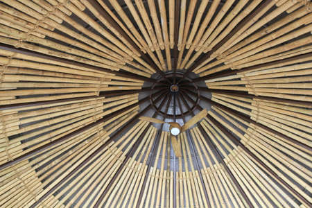 Ceiling of an African Hut With Fan, Traditional African architecture
