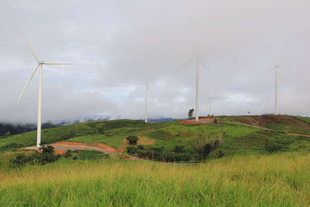 Khaokho Phetchaboon, THAILAND - September 6,2016(Public Sight) : Phetchabun have witnessed the arrival of the country�s largest wind turbine which will be used to produce electric power clean energy and become a new tourist spot of the province.