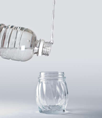 gravity: water going upward against the gravity Stock Photo