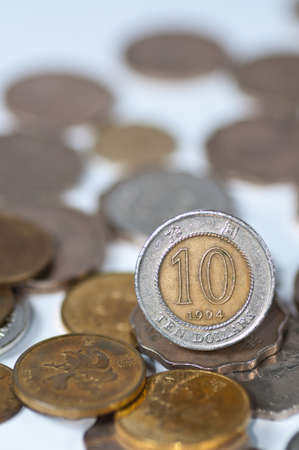 close up of a Hong Kong ten dollars coin photo