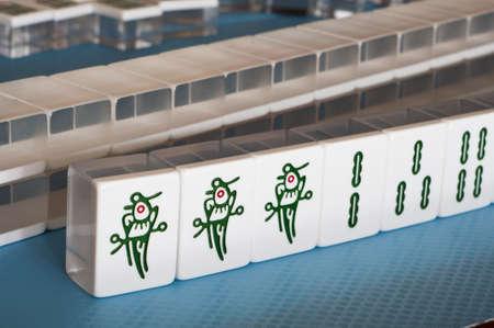 mahjong: setup of a game for mahjong