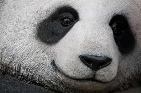 giant: close up of a giant panda statue Stock Photo