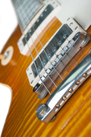 close up of a morden electronic guitar photo