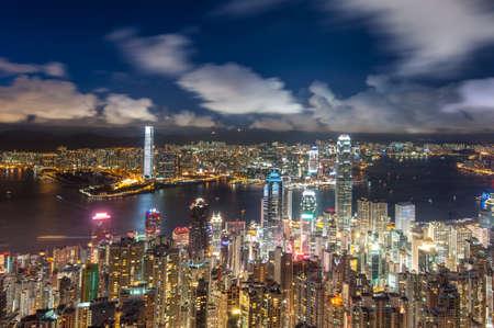 Niget View Hong Kong Victoria Harbor photo