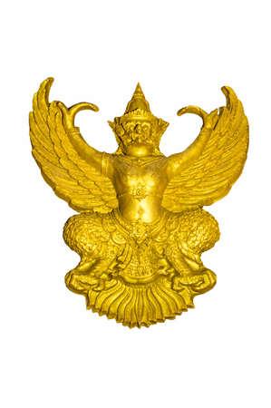 garuda: Garuda golden white backdrop .