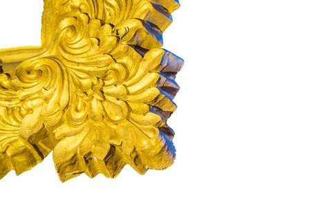 ism: Thailand stripes Golden  White background Stock Photo