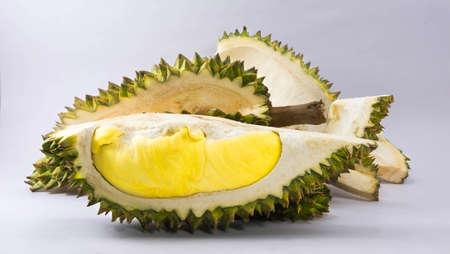 Mon Thong durian fruit on white background