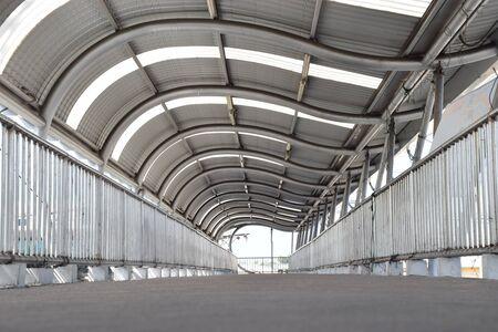 footbridges: Empty footbridge Stock Photo