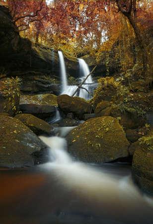 Mundang autumn waterfall at national park in Thailand