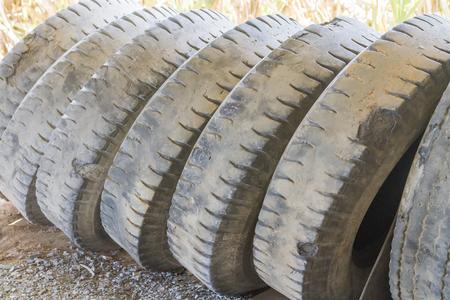 pneu: Old  tires of truck