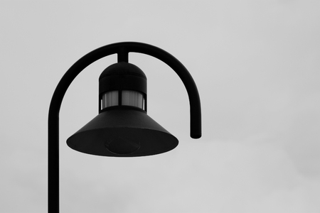 lamp shade: Black lamp with white background