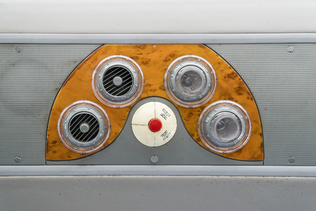 Air box and light inside the cabin with switch