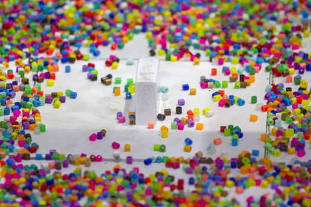 Lots of colorful fusible plastic beads for arts work