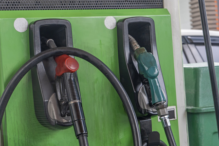 Old fuel dispenser gas pump petrol station