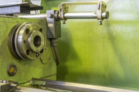 CNC turning spindle and old machine lathe Reklamní fotografie