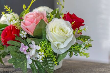 Colorful flowers in a vase of beautiful