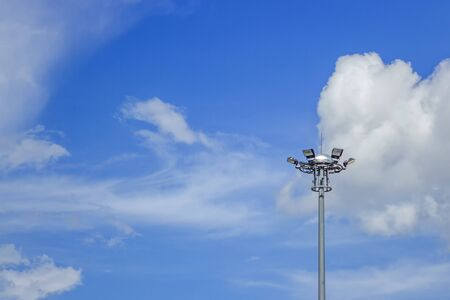Light Post With Blue Sky Background and multi light