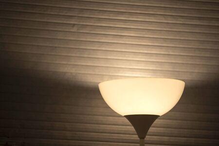 Golden desk lamp light modern copper background