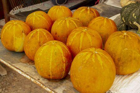 Thai melon of orange many on the table