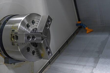 CNC turning machine spindle and lathe workshop