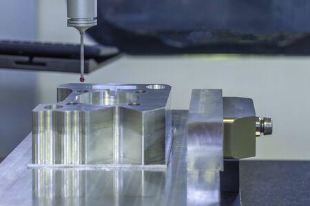 CMM machine measuring aluminum qc check workpieces