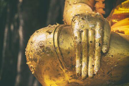 Right hand golden Buddha, Thailand, Asia, Body part