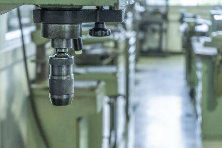 Milling machine spindle, Nc Milling spindle in a workshop or mold shop it old manufacturing