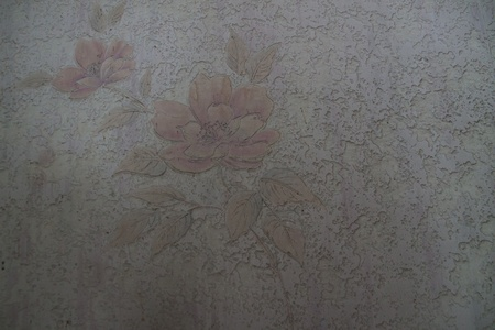Flower carvings on the walls