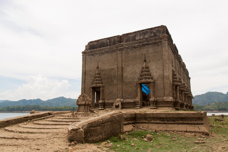 repaired: Ancient temples wait for repaired Stock Photo